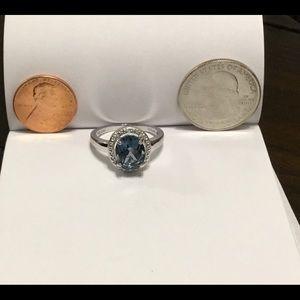 Jewelry - Dark Blue Topaz Silver 925 Ring